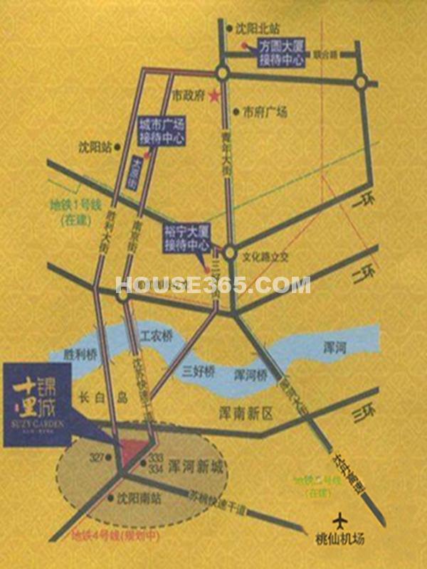 泰盈十里锦城交通图