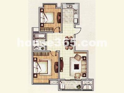 k户型,建筑面积约95.17平方米(顶楼跃层140.04平方米)