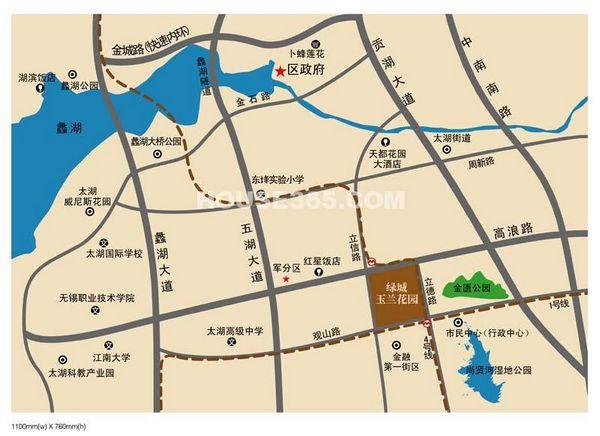 玉兰花园交通图