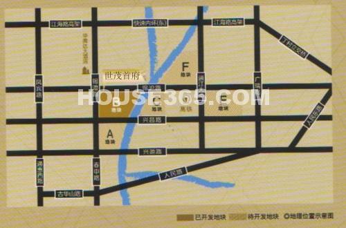 世茂首府交通图