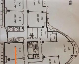 南站 喜马拉雅 甲级写字楼1150平米 毛坯 可分租