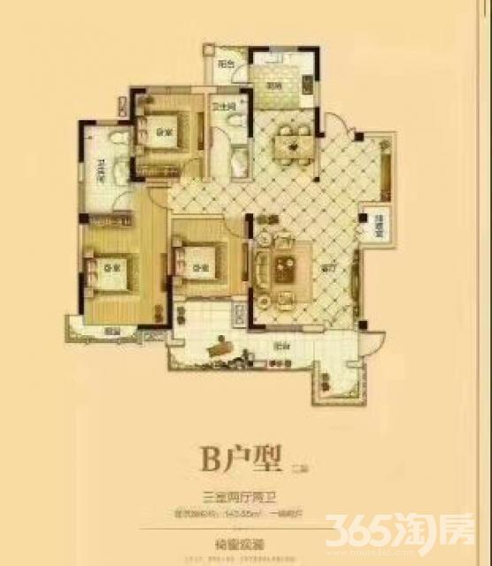 浩创梧桐春晓3室2厅2卫114平米2016年产权房毛坯