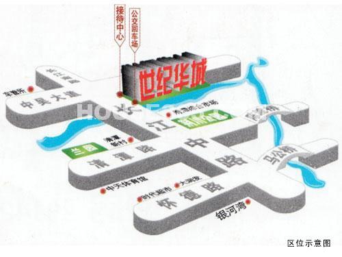 世纪华城交通图