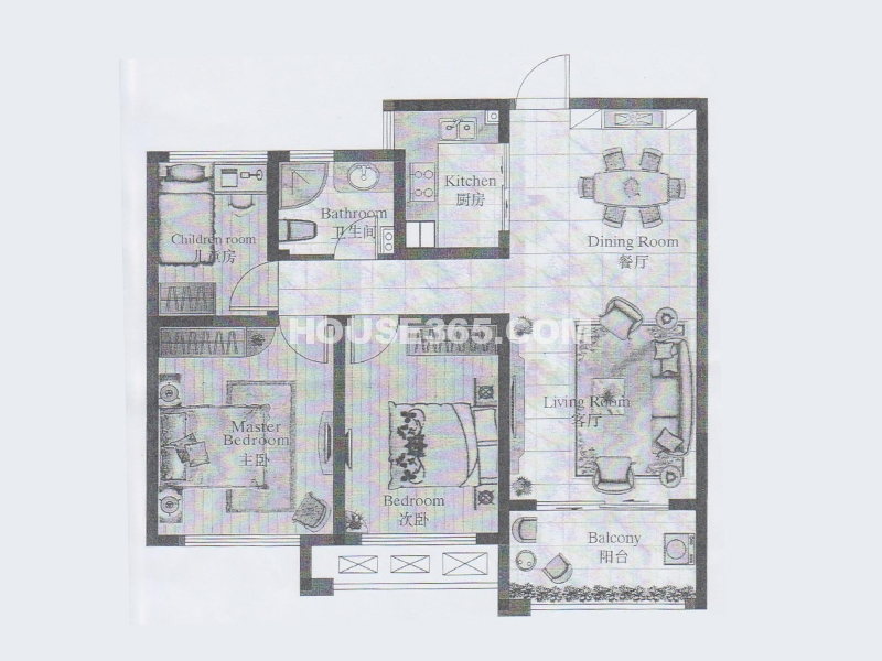 22#楼 甲单元03室 3室2厅1卫