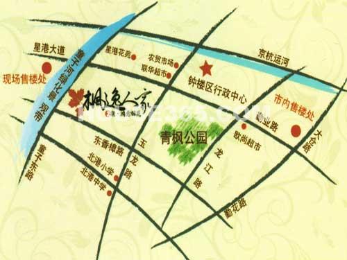 枫逸人家交通图