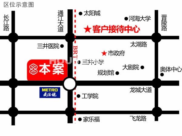翡翠锦园交通图
