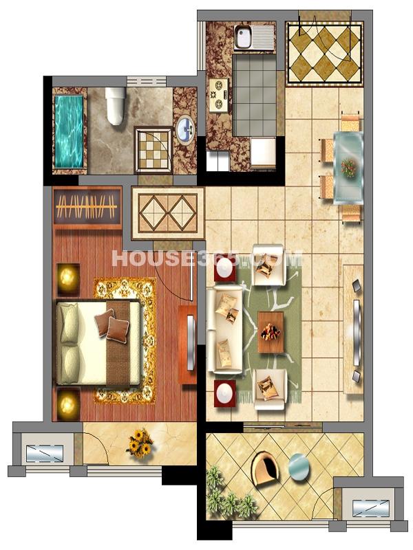2#楼C户型一室两厅