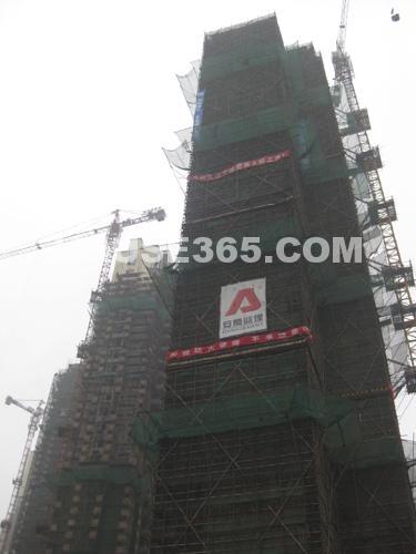 12月工程进展:在建高层48#、49#、50#、59#已封顶