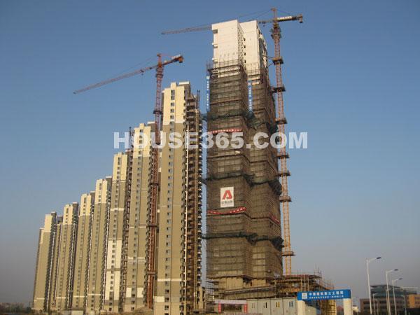 世茂香槟湖最新工程进展图(2010.02.23)