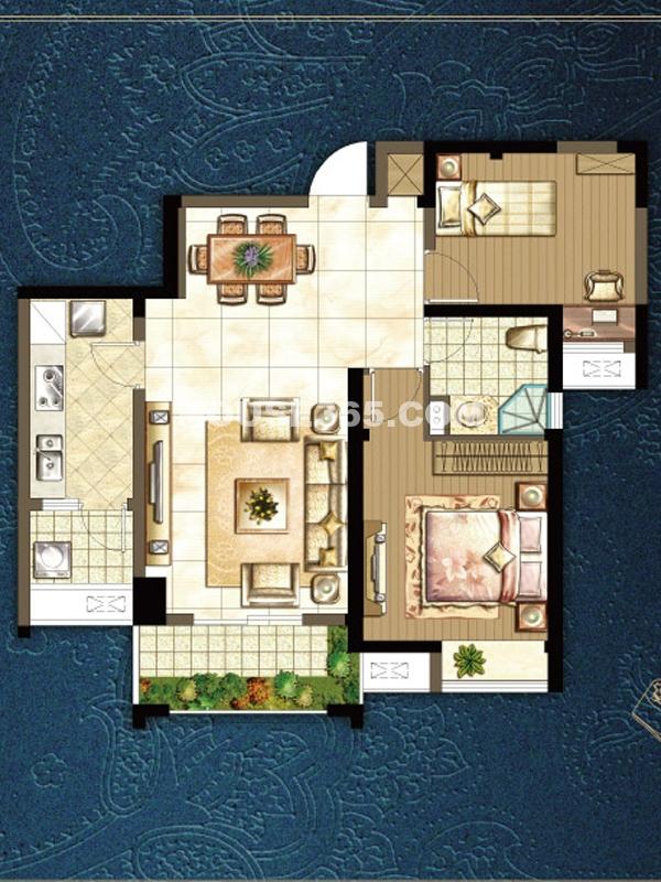 l户型两室两厅
