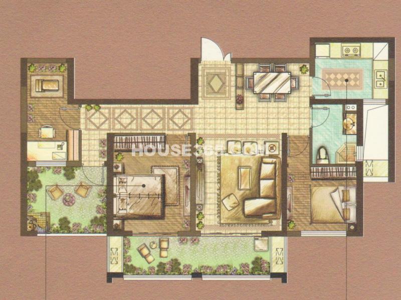 B户型-两室两厅一厨一卫