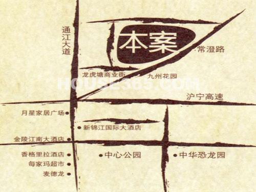 紫阳美地山庄交通图