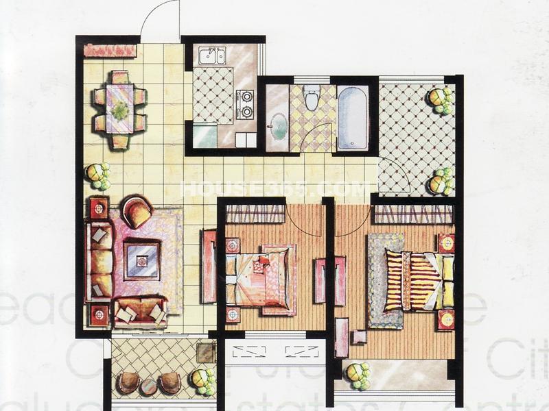 二房二厅一卫+空中花园