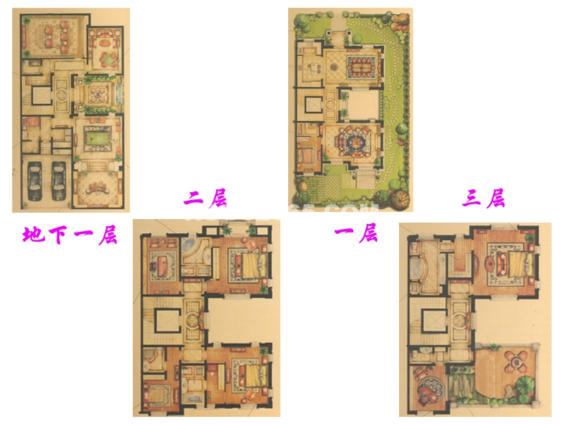 别墅户型-尊华光影 七房三厅六卫(北入户 双拼类独栋)