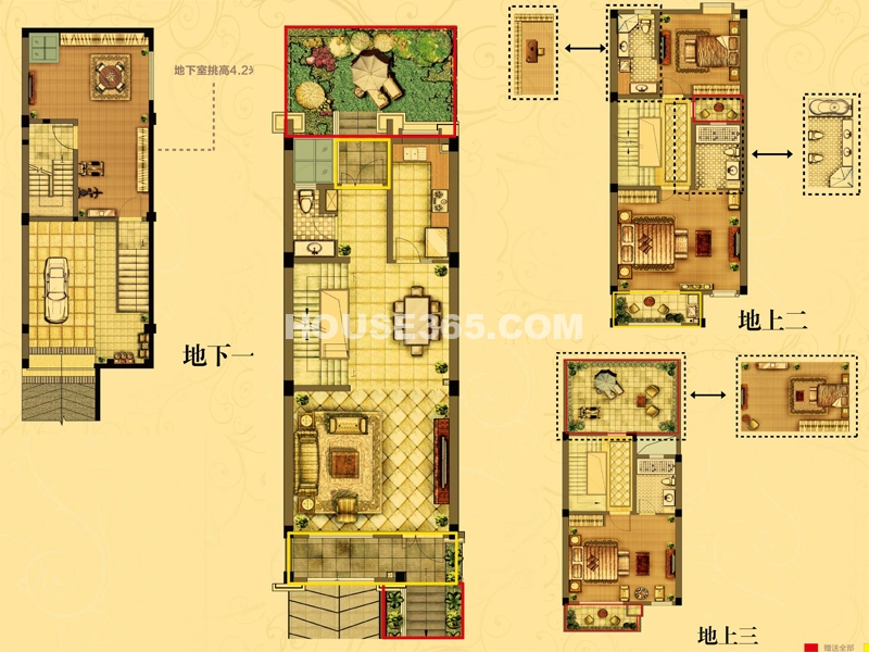 梦溪1-01 4室3厅1厨4卫