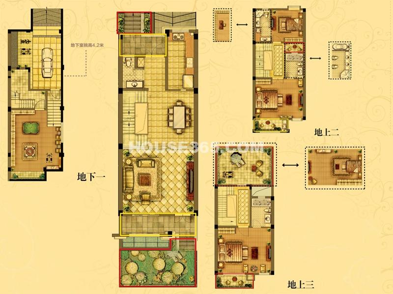 梦溪2-01 4室3厅1厨4卫