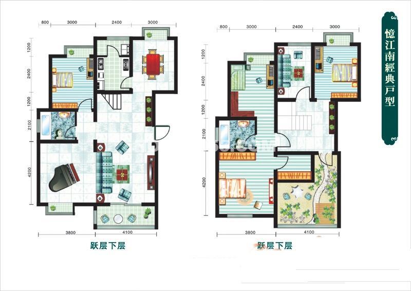 忆江南三室户型图3室2厅1卫189.53㎡