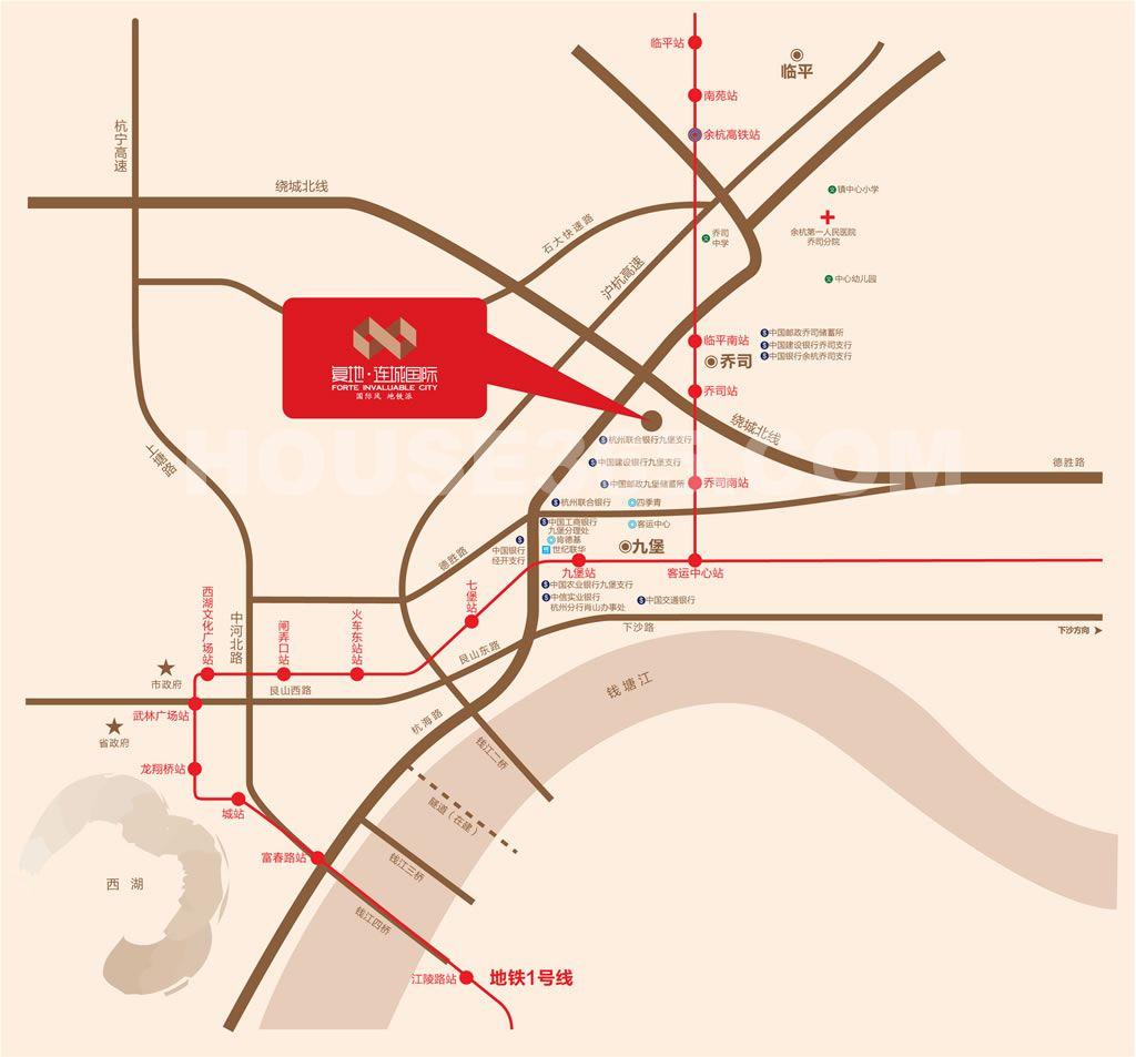 复地连城国际交通图