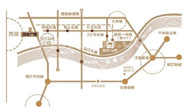 保利东湾交通图