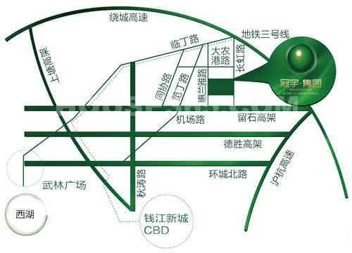 冠宇隽园交通图