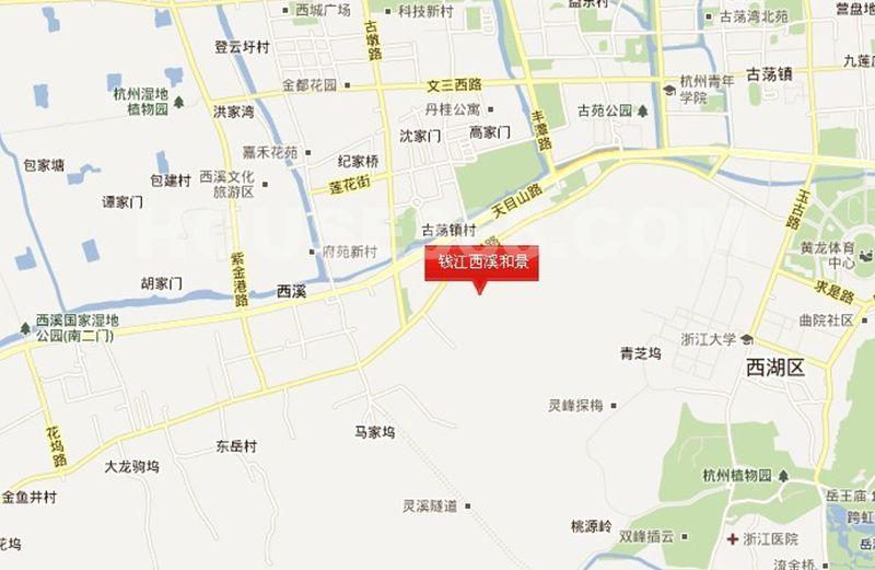 钱江西溪和景交通图
