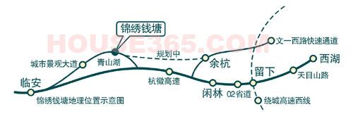 锦绣钱塘交通图