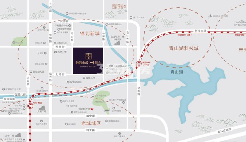 溪悦十锦台公寓交通图