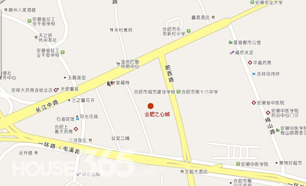 之心城环球中心交通图