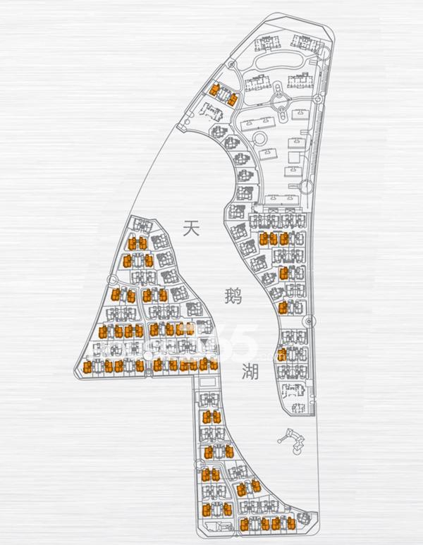绿地内森庄园别墅 c户型 地下一层平面图_合肥绿地_网