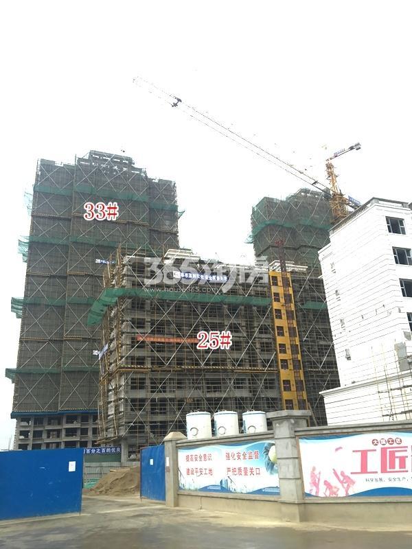 恒大观澜府B地块洋房25#楼,高层33#楼实景图(2018.4 摄)