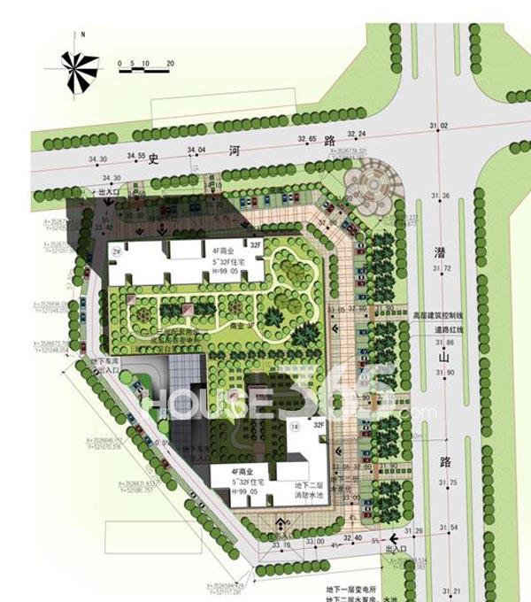 辰龙紫荆广场总平面图