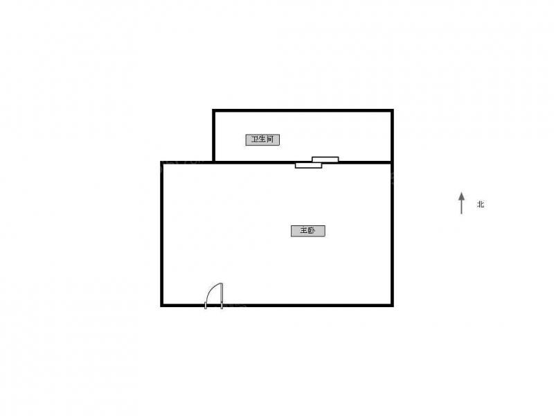 江宁区百家湖21世纪现代城1室1厅户型图