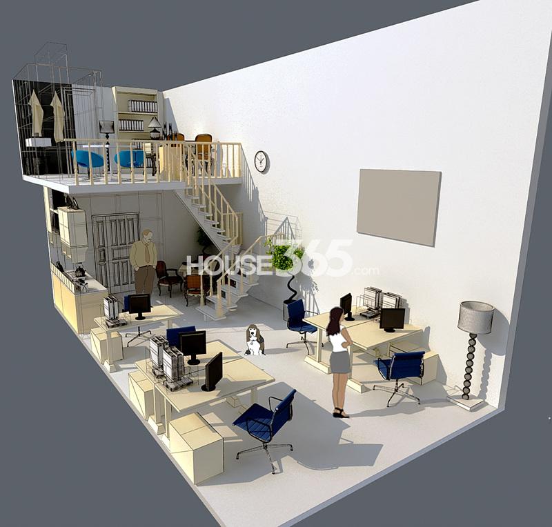 蔚蓝商务港室内模型