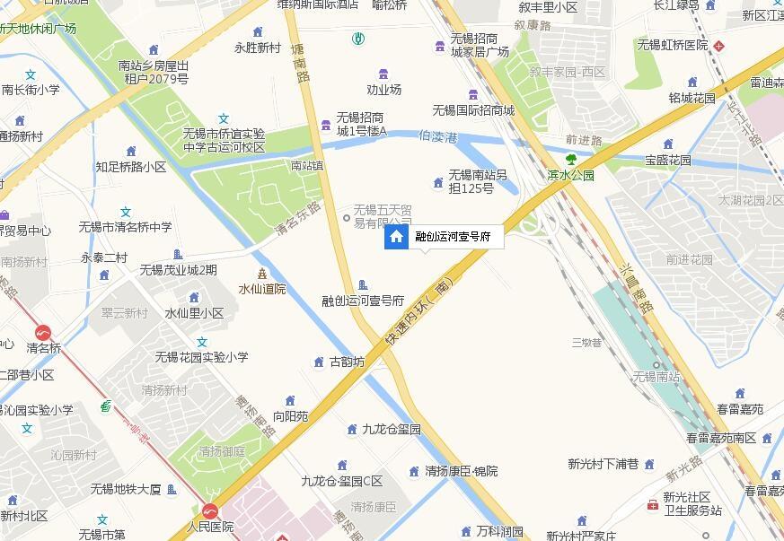 融创运河壹号府交通图