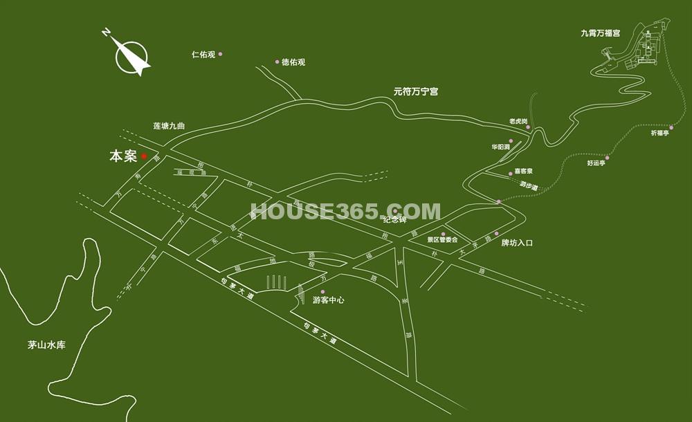 鸿德紫谷交通图
