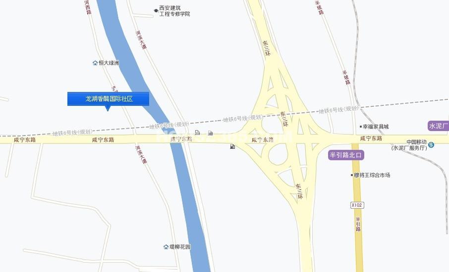 龙湖香醍璟宸交通图