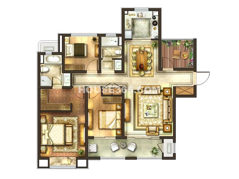 二期 3室2厅2卫+书房
