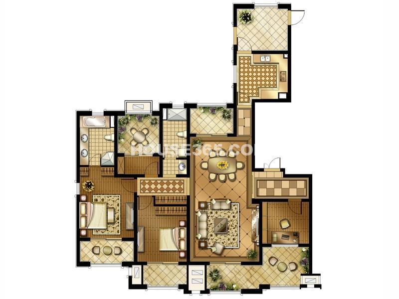 一期 3室2厅2卫