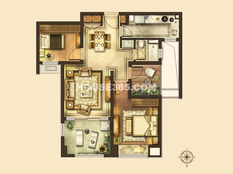 二期 2室2厅1卫