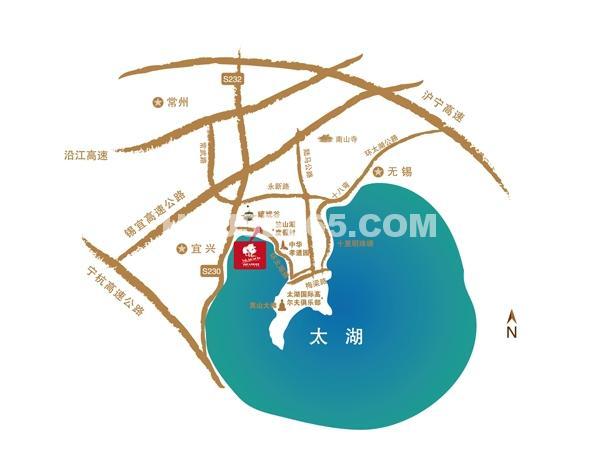 太湖香树湾交通图