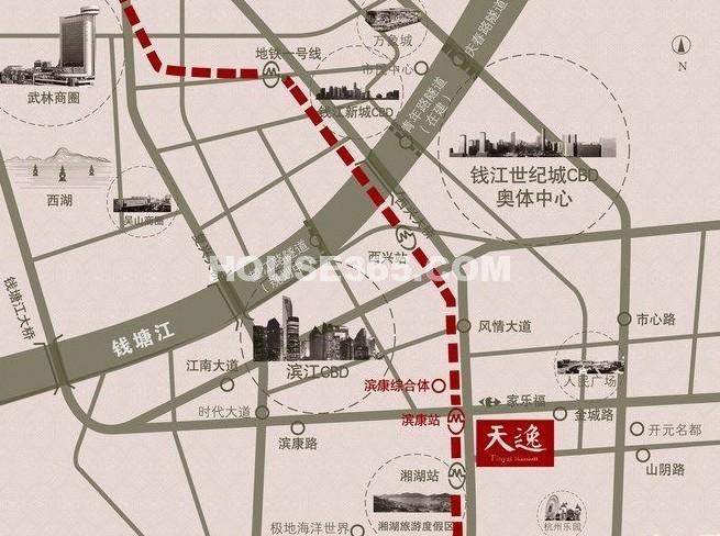 金地天逸交通图