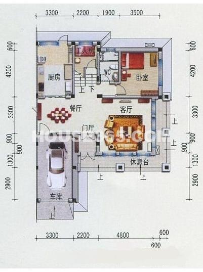 碧桂园凤凰城329.6平米一层