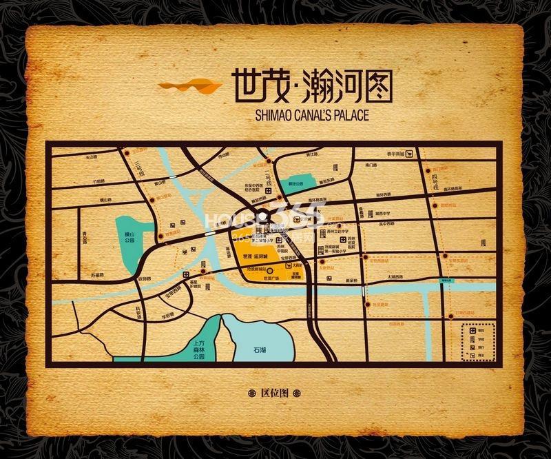 世茂运河城交通图