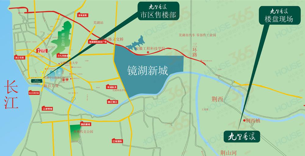 九里香溪交通图