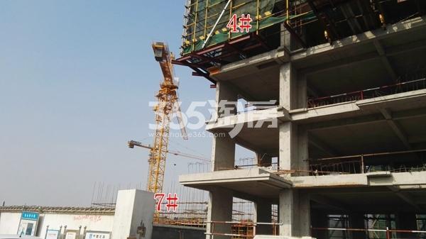 中海熙岸华府14#洋房及高层7#楼在建实景(12.5)