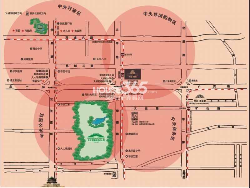 华远锦悦交通图