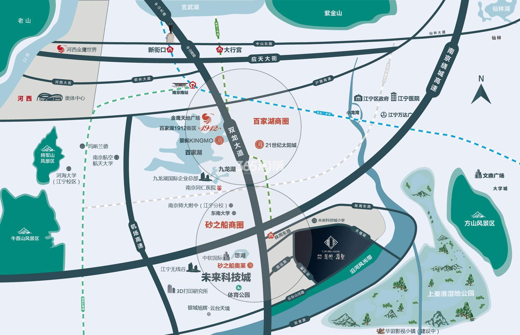 银城旭辉上淮铂悦府(铂悦源墅)交通图