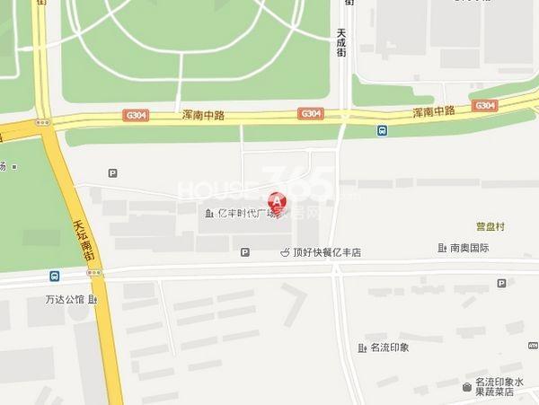 亿丰不夜城交通图