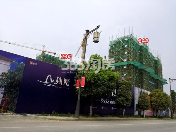 新力帝泊湾23#、24#楼小高层工程进度实景(2018.7摄)
