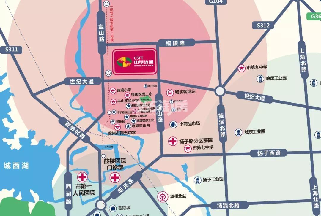 中垦流通国际领寓交通图